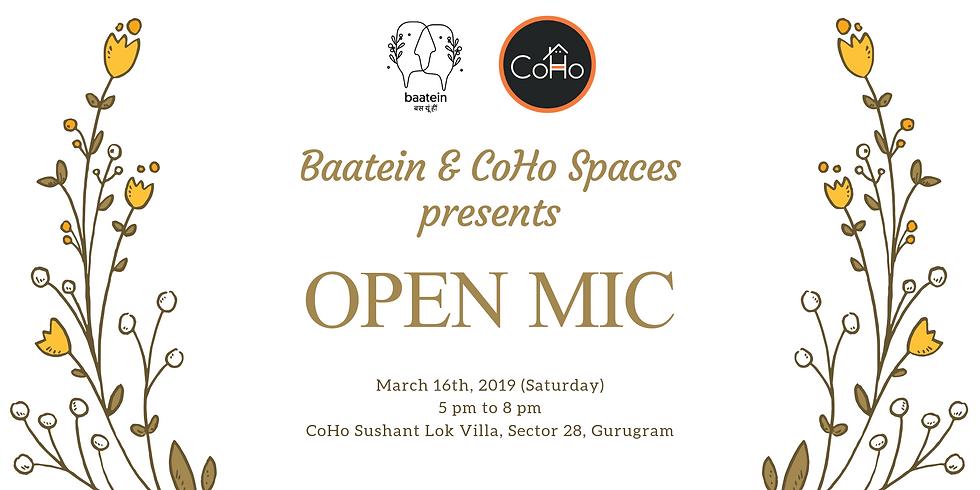 Baatein & Coho Spaces presents - OPEN MIC