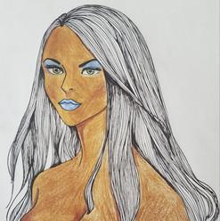 Colored Pencil & Ink: Sketch