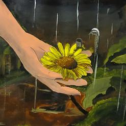 Poster Color: Dying Dandelion