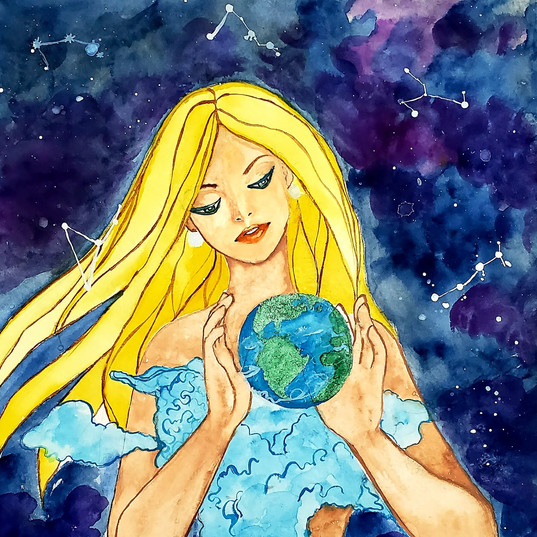 Watercolor: Mother Earth