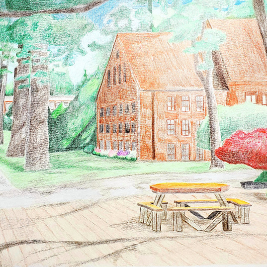 Colored Pencil: Pacific Lutheran University