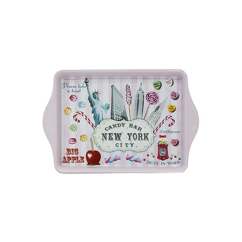 TIN TRAY - NYC CANDY PINK