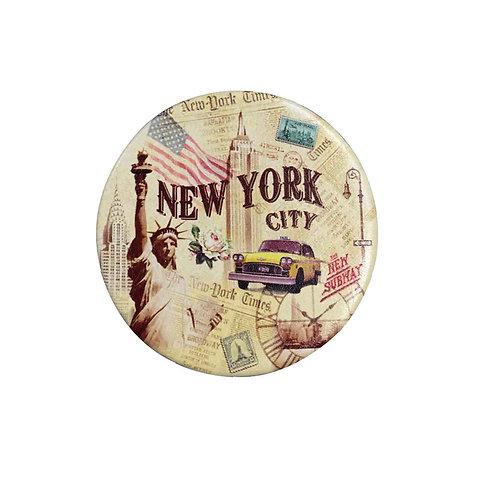 ROUND MIRROR - NYC VINTAGE