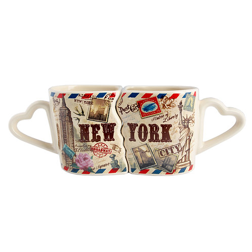 COUPLE MUG HEART - NY AIRMAIL