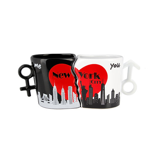COUPLE MUG MALE/FEMALE - NY SKYLINE