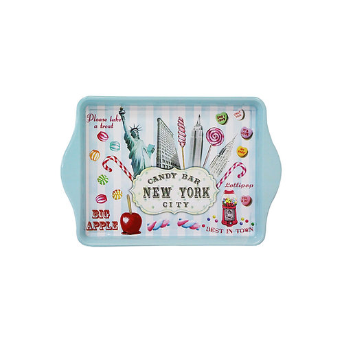 TIN TRAY - NYC CANDY BLUE