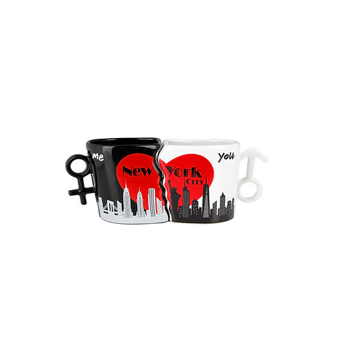 MINI COUPLE MUG MALE/FEMALE - NYC SKYLINE