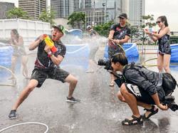 At the Splash Zone in HK Dragon Boat Car