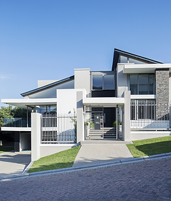 Front Exteror View of Modern Home