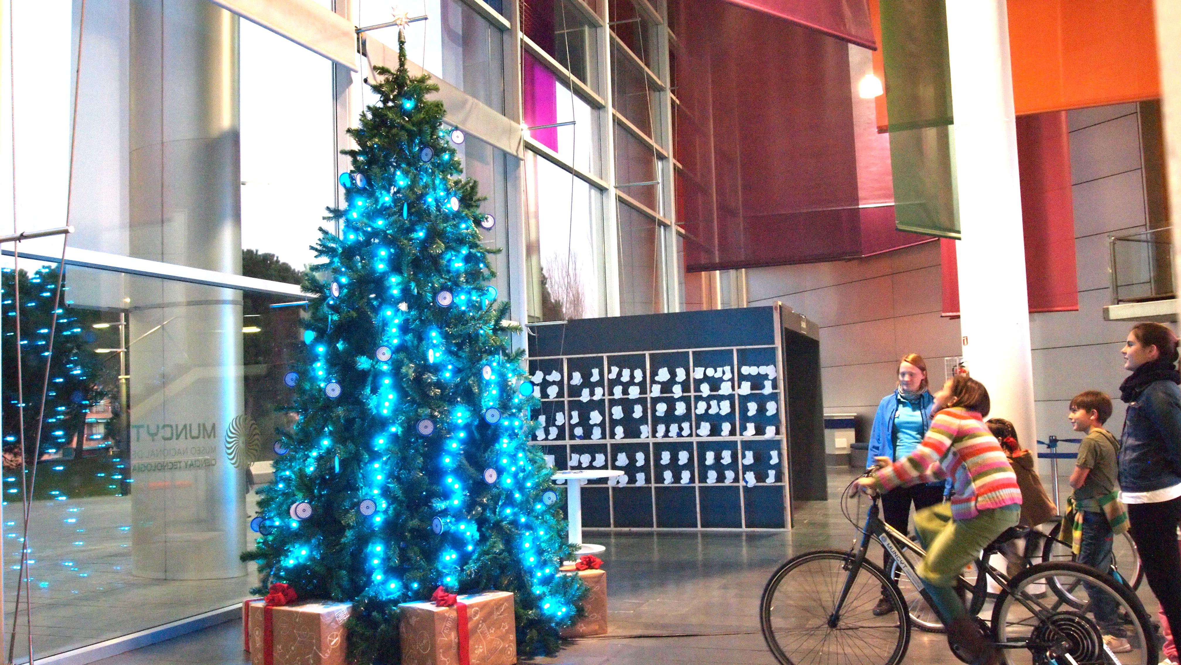 Árboles de navidad interactivos