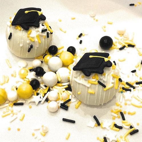 GRADUATION CAKE TRUFFLES - BOX OF 12
