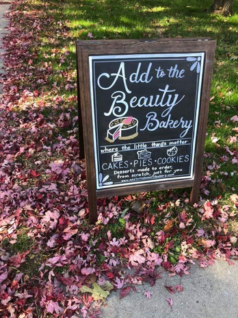 New bakery sign