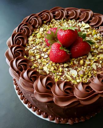 Strawberry Nut Cake