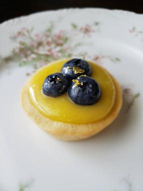 Lemon Curd Blueberry Tart