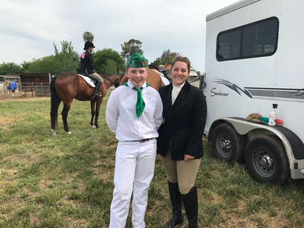 Two Tassajara Horse Project Members satisfied with their performance at the County Fair.