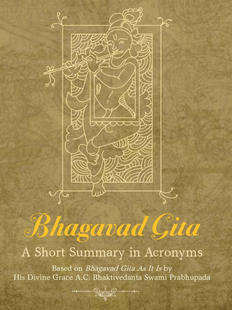 Bhagavad Gita Akronim