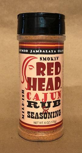 """Smokin' Red Head Cajun Rub & Seasoning """"MILD-ISH"""" (6-Oz)"""