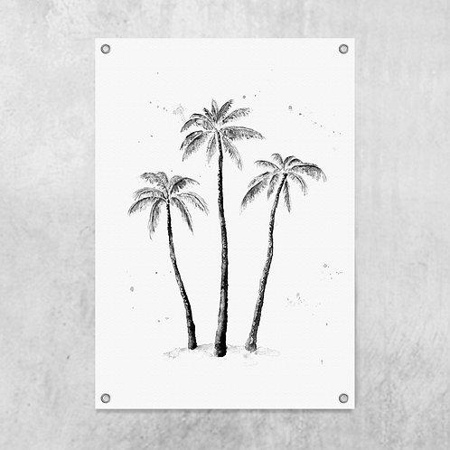 Palmtrees black | Tuinposter