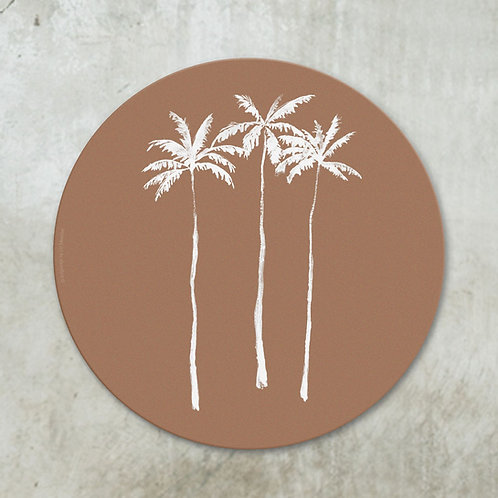 Palmtrees terracotta | Deco circle
