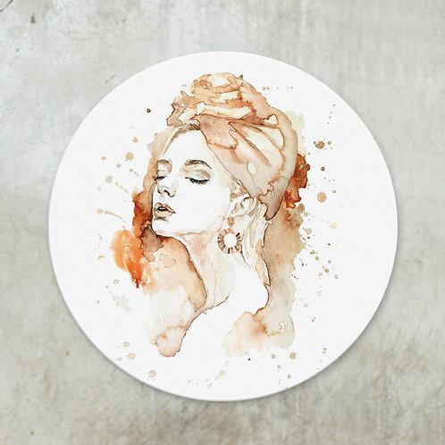 Watercolour woman | Deco circle
