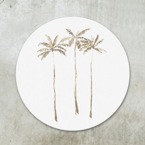 Palmtrees taupe | Deco circle
