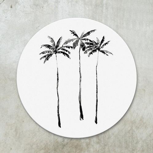 Palmtrees black on white | Deco circle
