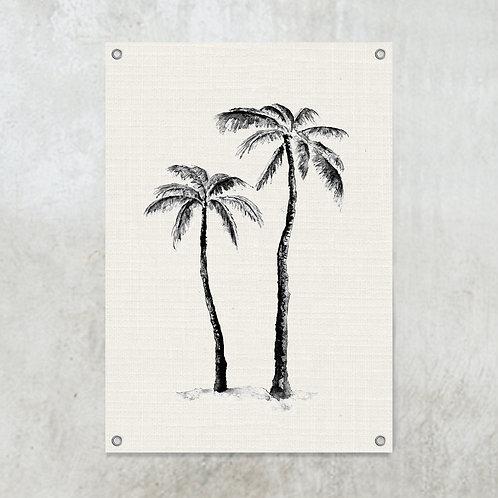 2 palmtrees | Tuinposter