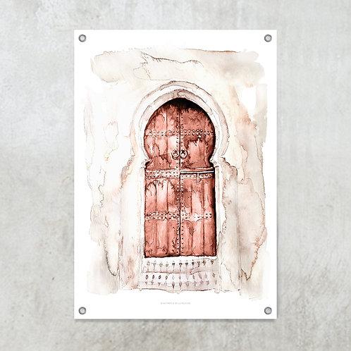 Marrakech doors terracotta | Tuinposter 70x100cm