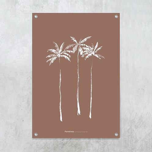 Palmtrees terracotta | Tuinposter