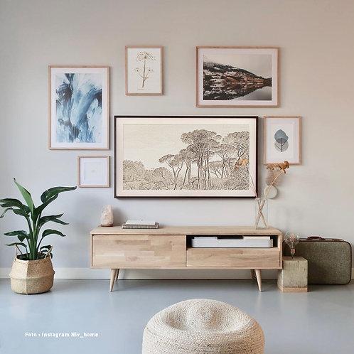 Engraved landscape | Frame TV -  digitale afbeelding