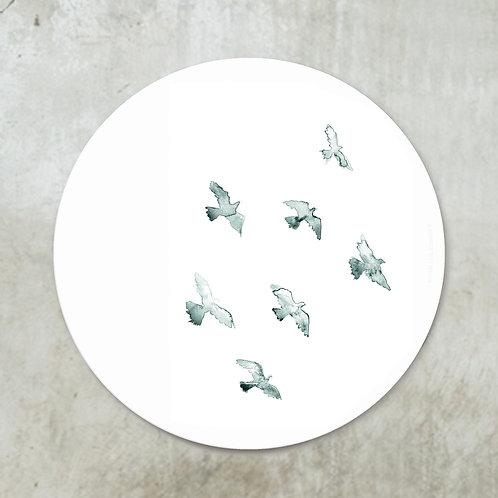 Birds mint | Deco circle