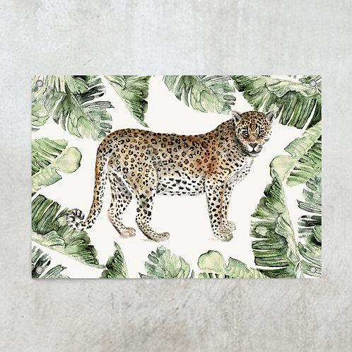 Leopard jungle | Tuinposter 70x100cm