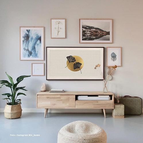 Ginkgo Beige black   Frame TV -  digitale afbeelding