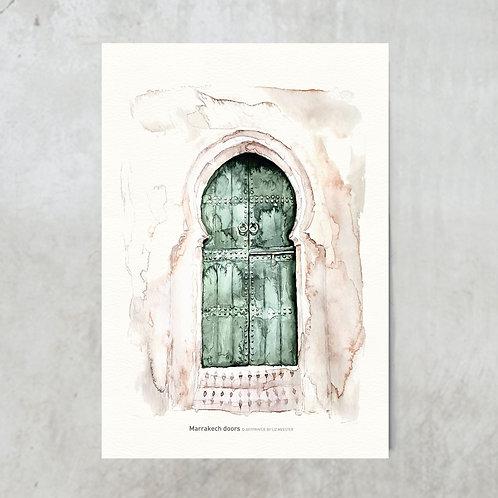 Marrakech doors green