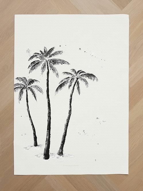 Canvas | Palmtrees black