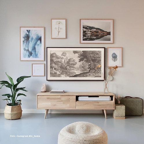 Engraved landscape   Frame TV -  digitale afbeelding