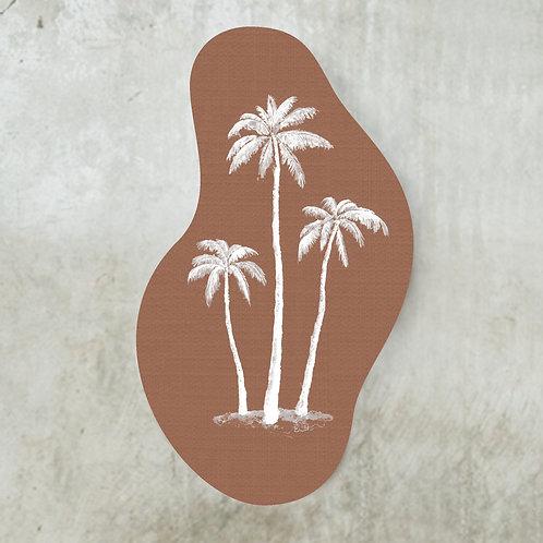 Palmtrees terracotta shape | 70 x 100 cm