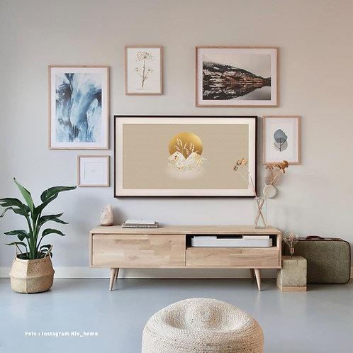 Swan naturel   Frame TV -  digitale afbeelding