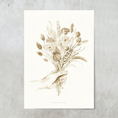Dried flower bouquet | Sepia