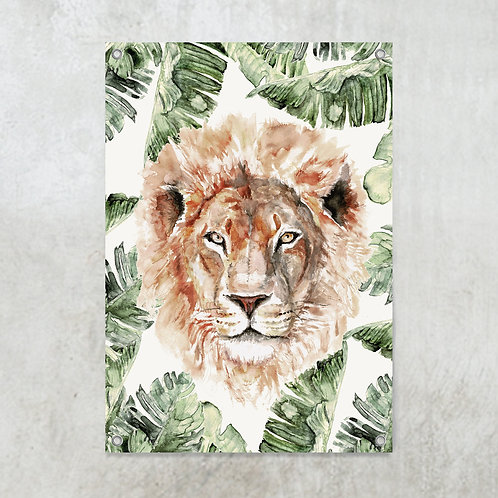 Lion jungle | Tuinposter 70x100cm