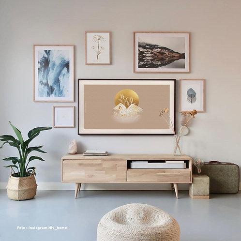 Swan circle   Frame TV -  digitale afbeelding