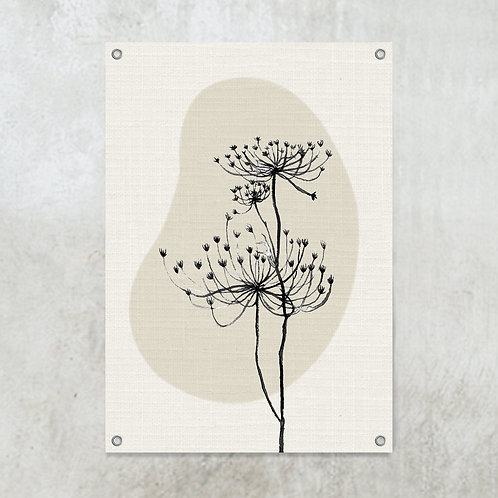 Shape with hogweed    Tuinposter