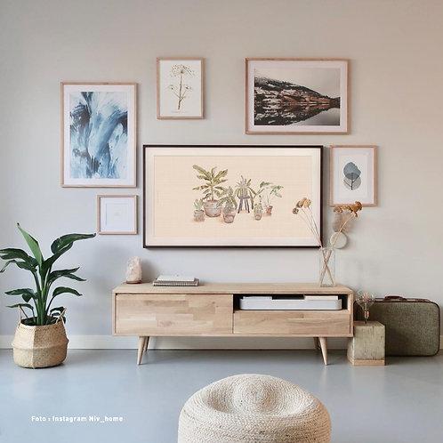 Urban jungle pink | Frame TV -  digitale afbeelding