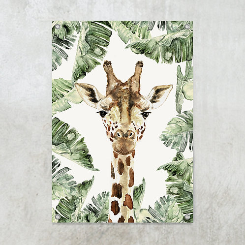 Giraffe jungle   Tuinposter 70x100cm