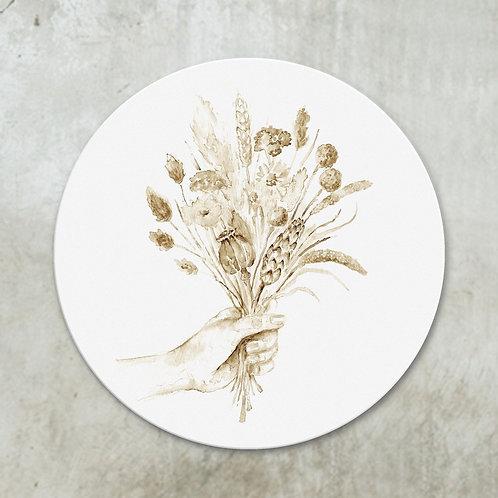 Dried flowers bouquet sepia | Deco circle