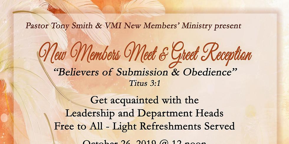 New Members Meet & Greet Reception