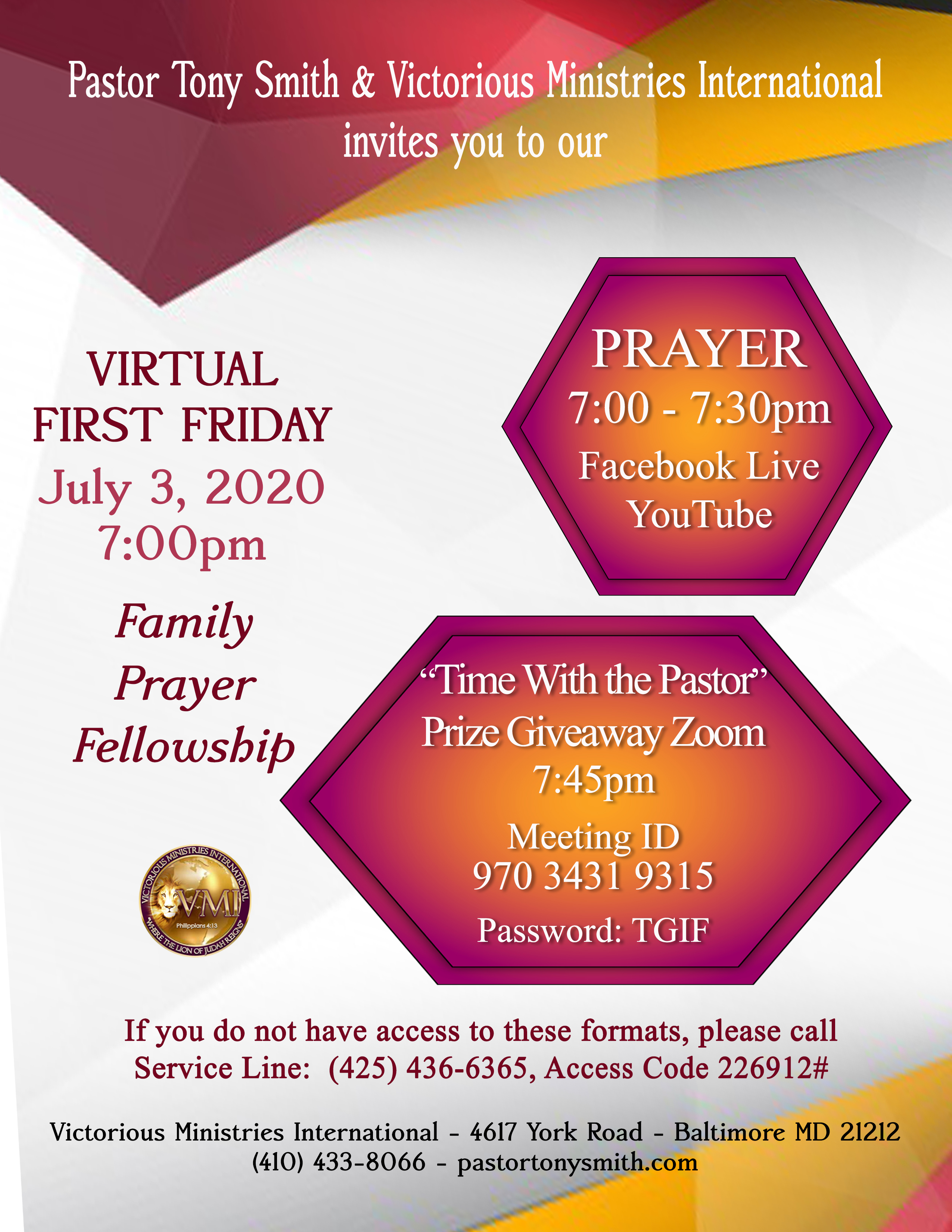 First Friday July 3
