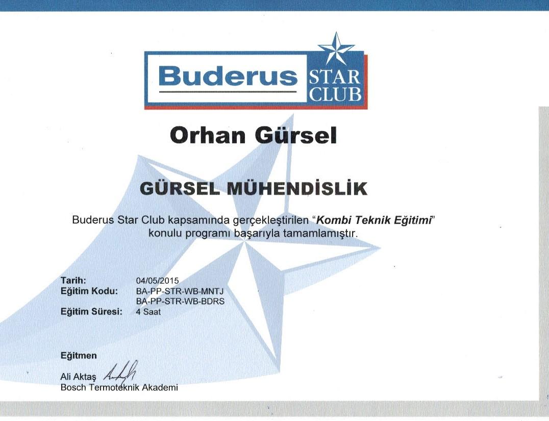 Buderus Eğitimi Orhan Gürsel