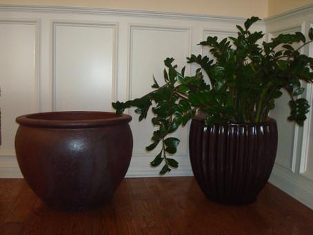 Get rid of Ceramic Planters use Fiberglass