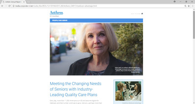 Anthem Insurance 2017 Annual Report Feature Story